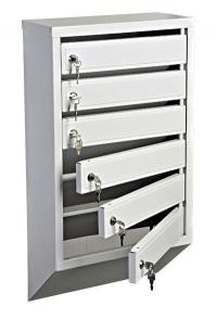 Металлический секционный вертикальный почтовый ящик в подъезд 6 секции