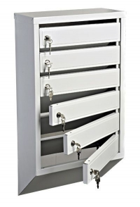 Металлический секционный вертикальный почтовый ящик в подъезд 8 секции