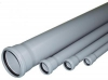 Труба серая канализационная с раструбом D 50 - 1,5м